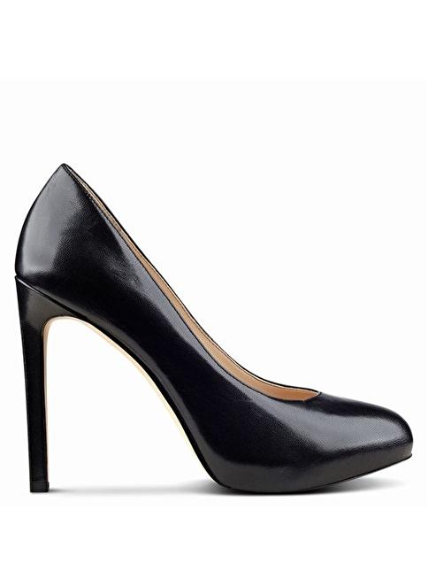 Nine West Platform Topuklu Deri Ayakkabı Siyah